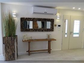 כניסה של בית פרטי עם מראה ממוסגרת