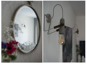 גוף תאורה תלוי על הקיר