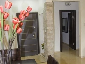 כניסה לדירה , הנמכות תקרה