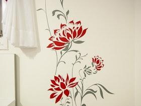 טפט פרח אדום