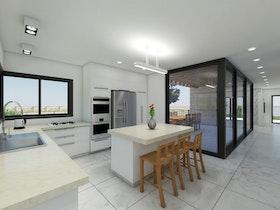 דירה לדוגמה - תכנון דופלקס עיצוב הבית והגינה