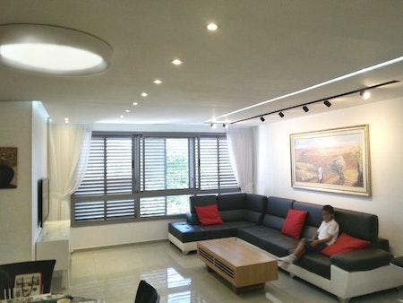 דירה אחרי שיפוץ - תוכנן על ידי האדריכל זוהר לבנון