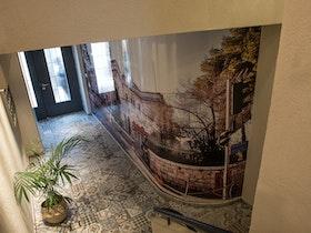 תכנון ועיצוב לובי הכניסה לבניין משרדים בירושלים