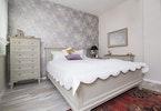 מיטה זוגית עם כיסוי מבד