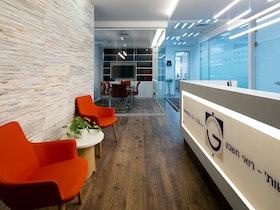 קבלה במשרד רואי חשבון מעוצבים ומפוארים