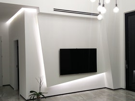 קיר סלון כם שילוב כבס מעוצב
