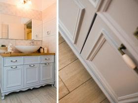 ארונית אמבטיה עם עץ