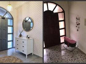 תמונת לפני ואחרי של כניסה לבית פרטי
