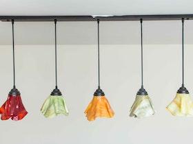 5 מנורות קיר בעיצוב פרח הפוך