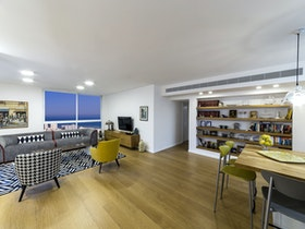 הדמיית תמונה לבית עם חללים גדולים