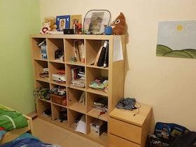 ספריית כוורת בחדר ילדים
