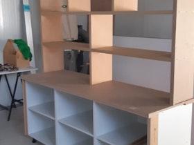 ספריית ספרים מעץ מלא