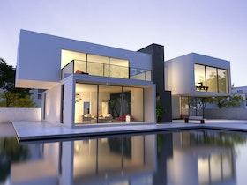בית פרטי מעוצב עם בריכה