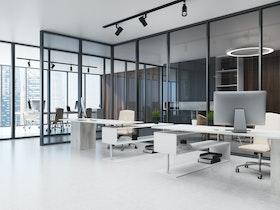 משרדים מפוארים במגדל משרדים