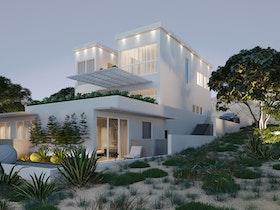 הדמיית בית פרטי על גבעה
