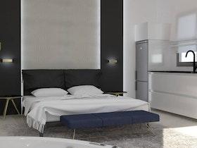 הדמיית חדר שינה משופץ מהייסוד