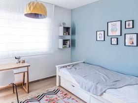 מיטת יחדי + מזרן ושטיח לילד