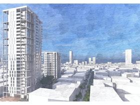 הדמייה של בניין בתל אביב