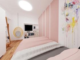 חדר שינה מעוצב ומסגונן בסגנון חופשי