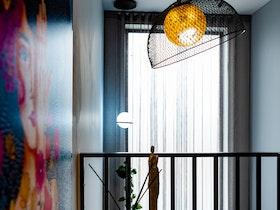 מנורה מעוצבת - סלסלת רשת הפוכה