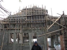 בניית שלד המבנה